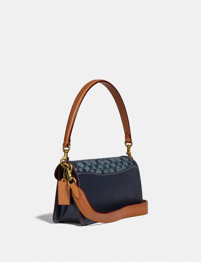 Coach Tabby Shoulder Bag 26 in Signature Chambray B4/Chambray Midnight Navy Mlti Women Bags Shoulder Bags Alternate View 1