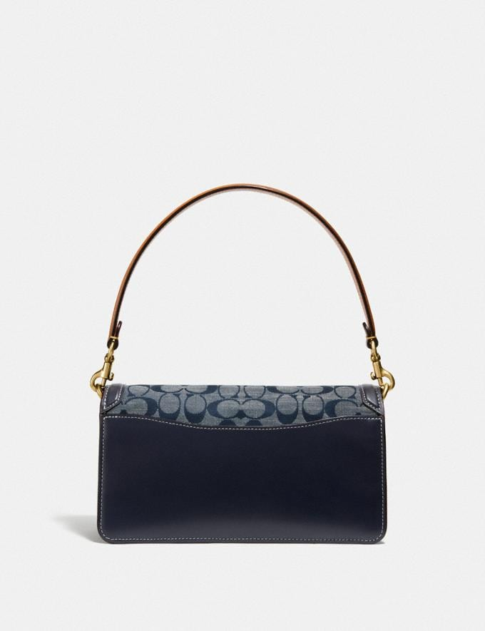 Coach Tabby Shoulder Bag 26 in Signature Chambray B4/Chambray Midnight Navy Mlti Women Bags Shoulder Bags Alternate View 2