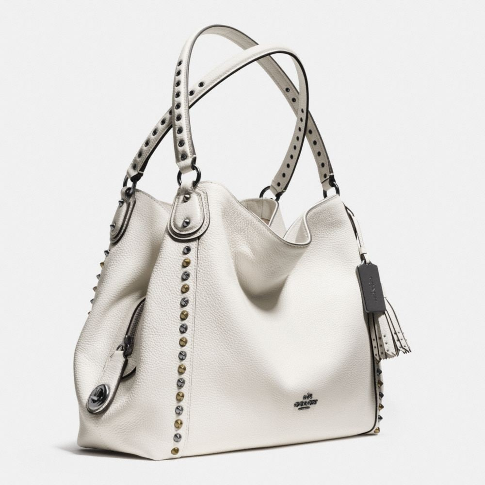 Outline Studs and Grommets Edie Shoulder Bag 31 in Leather - Autres affichages A2