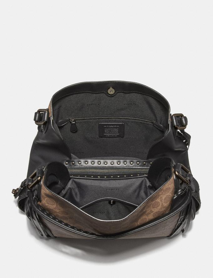 Coach Edie Shoulder Bag 42 in Signature Canvas With Whipstitch Tan Black/Black Copper New Featured Online-Only Alternate View 2