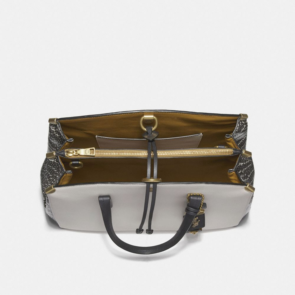 Coach Cooper Carryall in Colorblock With Genuine Snakeskin Detail Alternate View 2