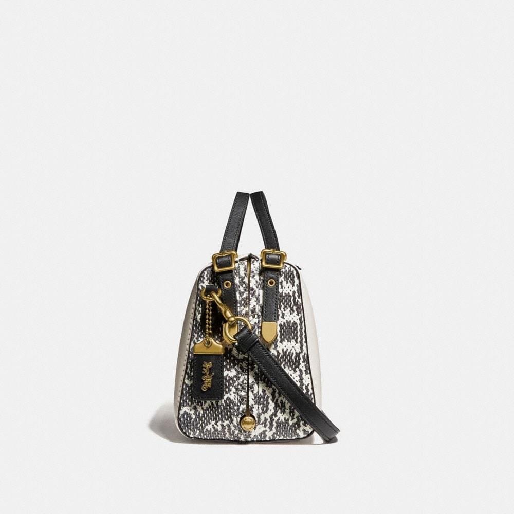 Coach Laural Frame Bag in Colorblock With Snakeskin Detail Alternate View 1