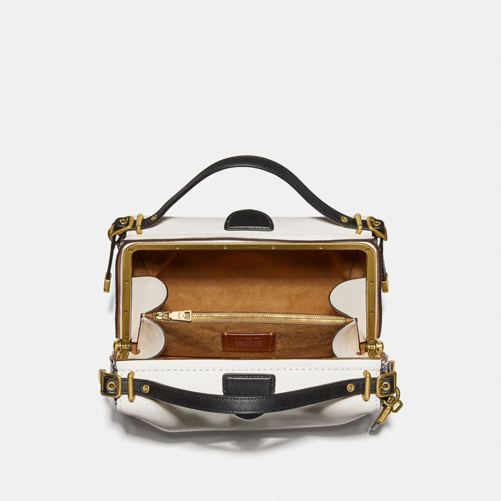 Coach Laural Frame Bag in Colorblock With Snakeskin Detail Alternate View 2