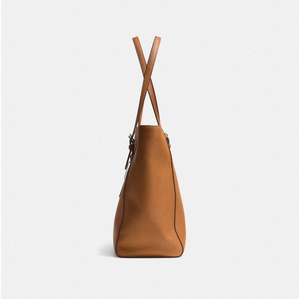 TURNLOCK TOTE IN CROSSGRAIN LEATHER - Autres affichages A1