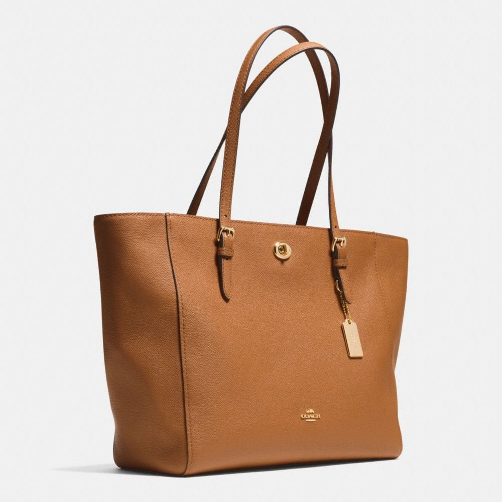 TURNLOCK TOTE IN CROSSGRAIN LEATHER - Autres affichages A2