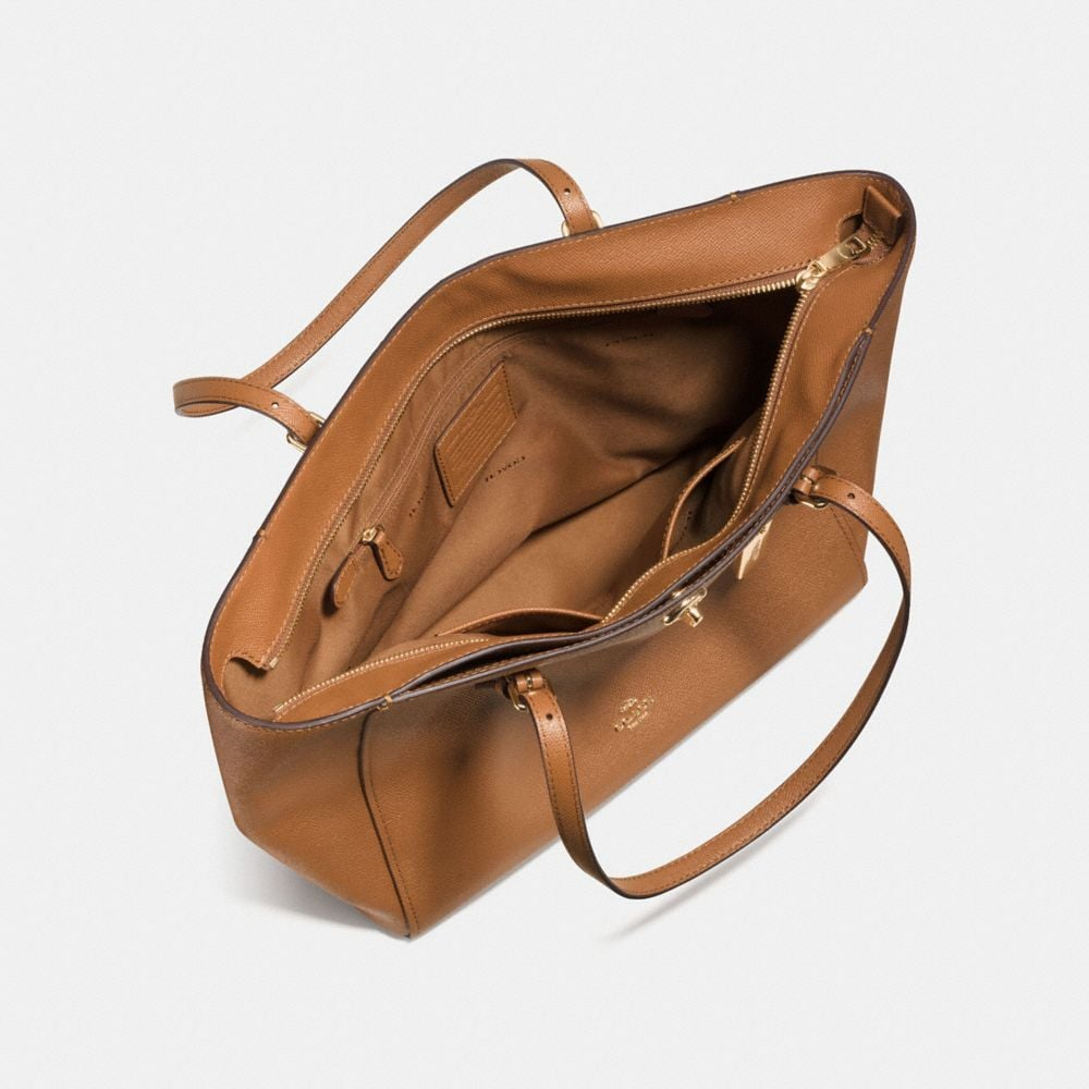 TURNLOCK TOTE IN CROSSGRAIN LEATHER - Autres affichages A3