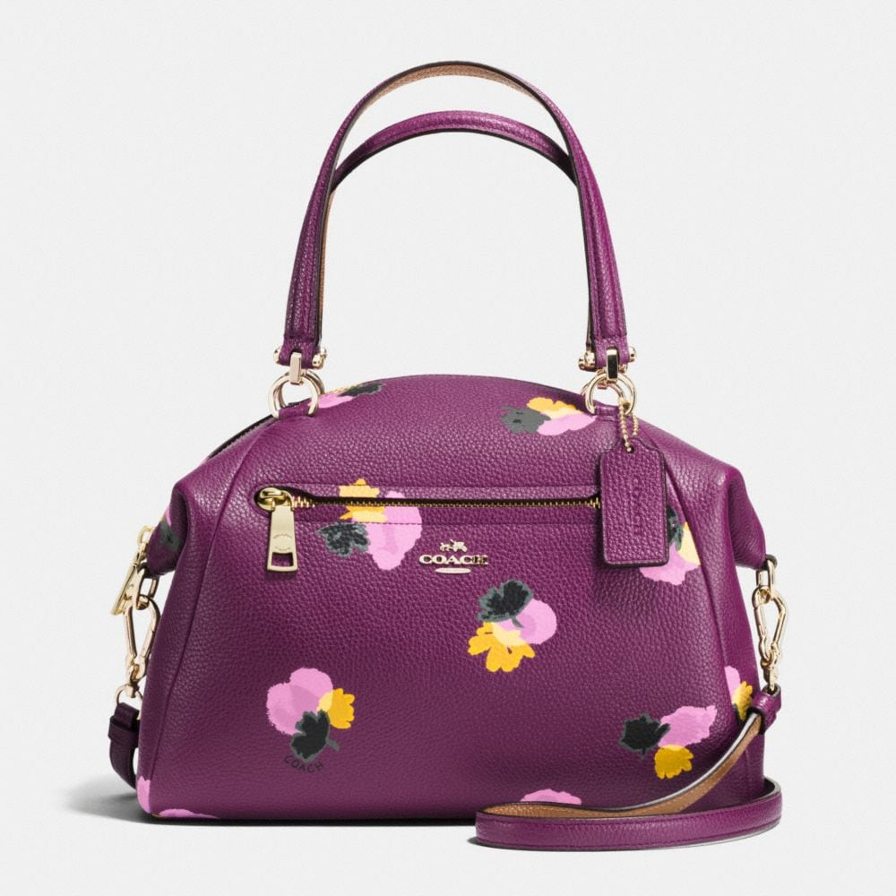 PRAIRIE SATCHEL IN FLORAL PRINT LEATHER