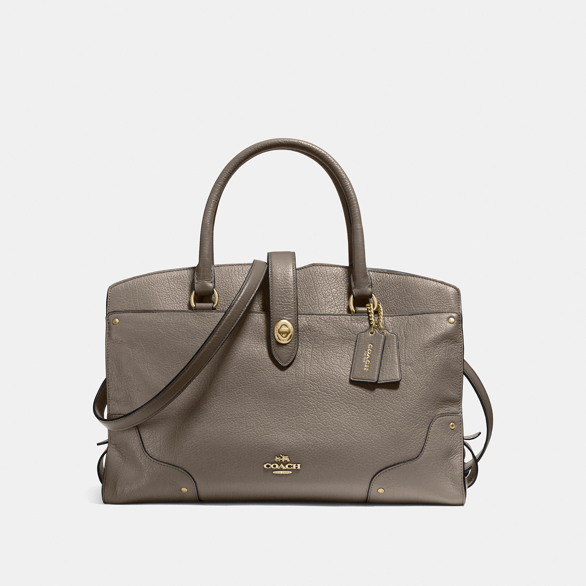 Coach Mercer Satchel in Grain Leather
