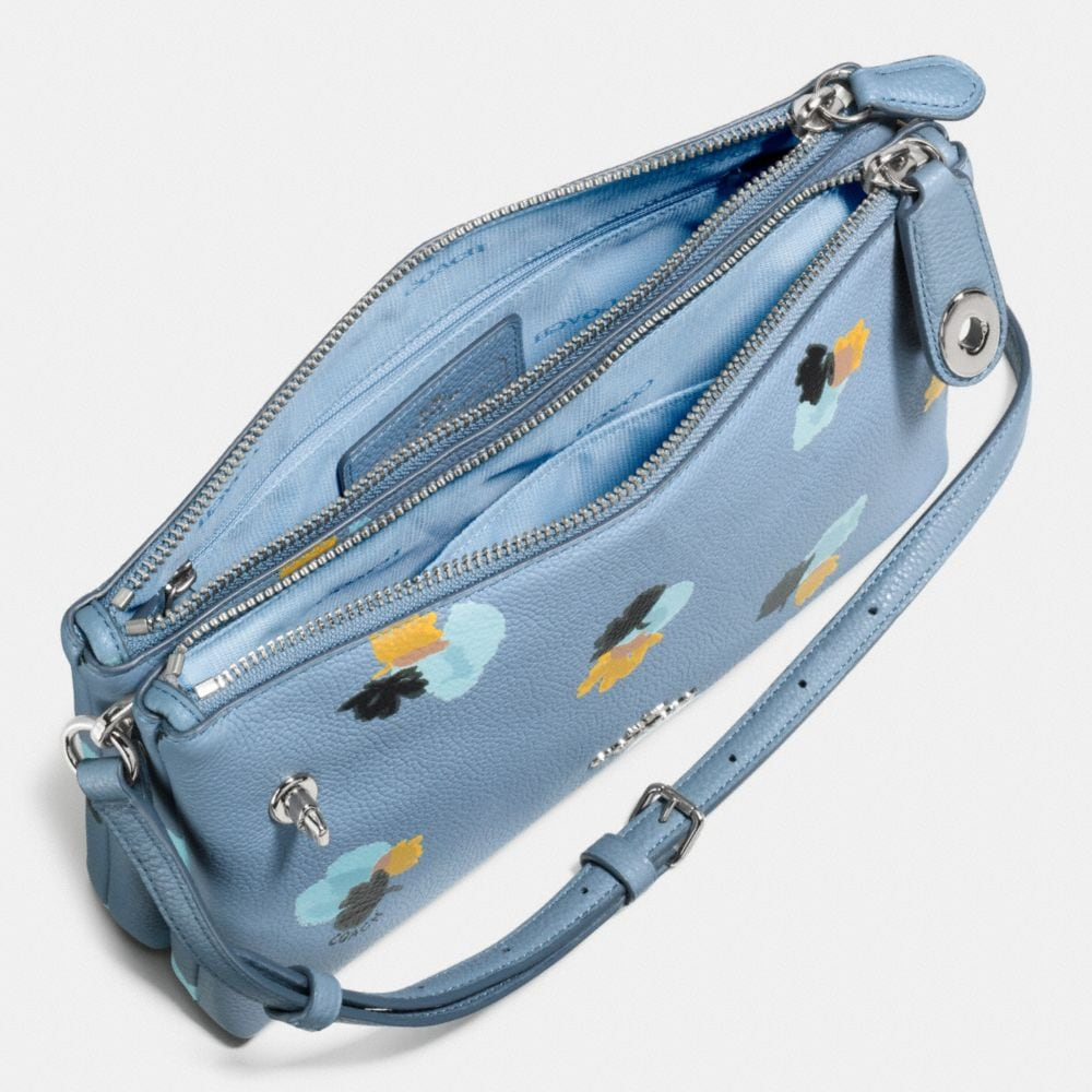 Crosby Crossbody in Floral Print Pebble Leather - Alternate View A1