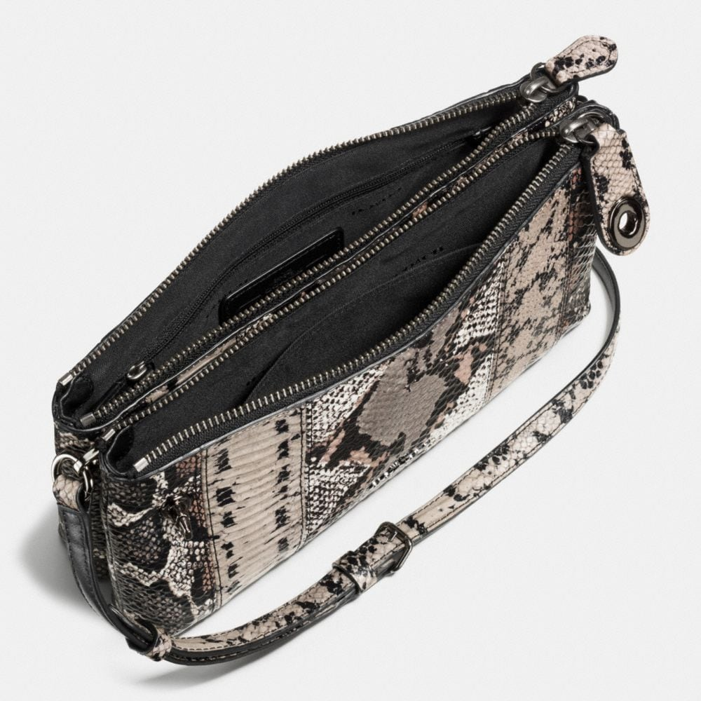 Crosby Crossbody in Pieced Exotic Embossed Leather - Autres affichages A1
