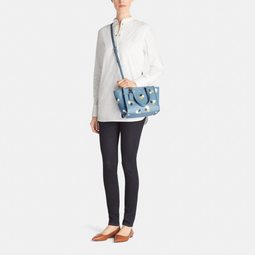 MINI CROSBY CARRYALL IN FLORAL PRINT PEBBLE LEATHER - Autres affichages M1