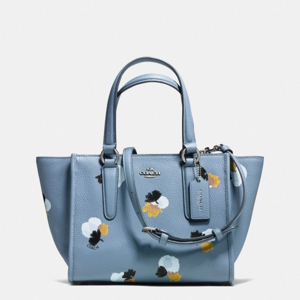 MINI CROSBY CARRYALL IN FLORAL PRINT PEBBLE LEATHER