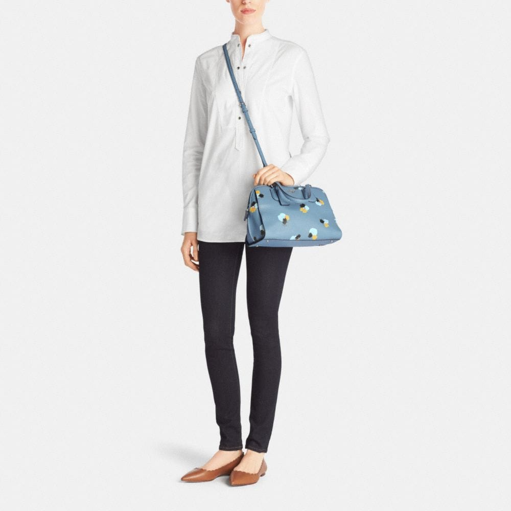 Nolita Satchel in Floral Print Pebble Leather - Alternate View M
