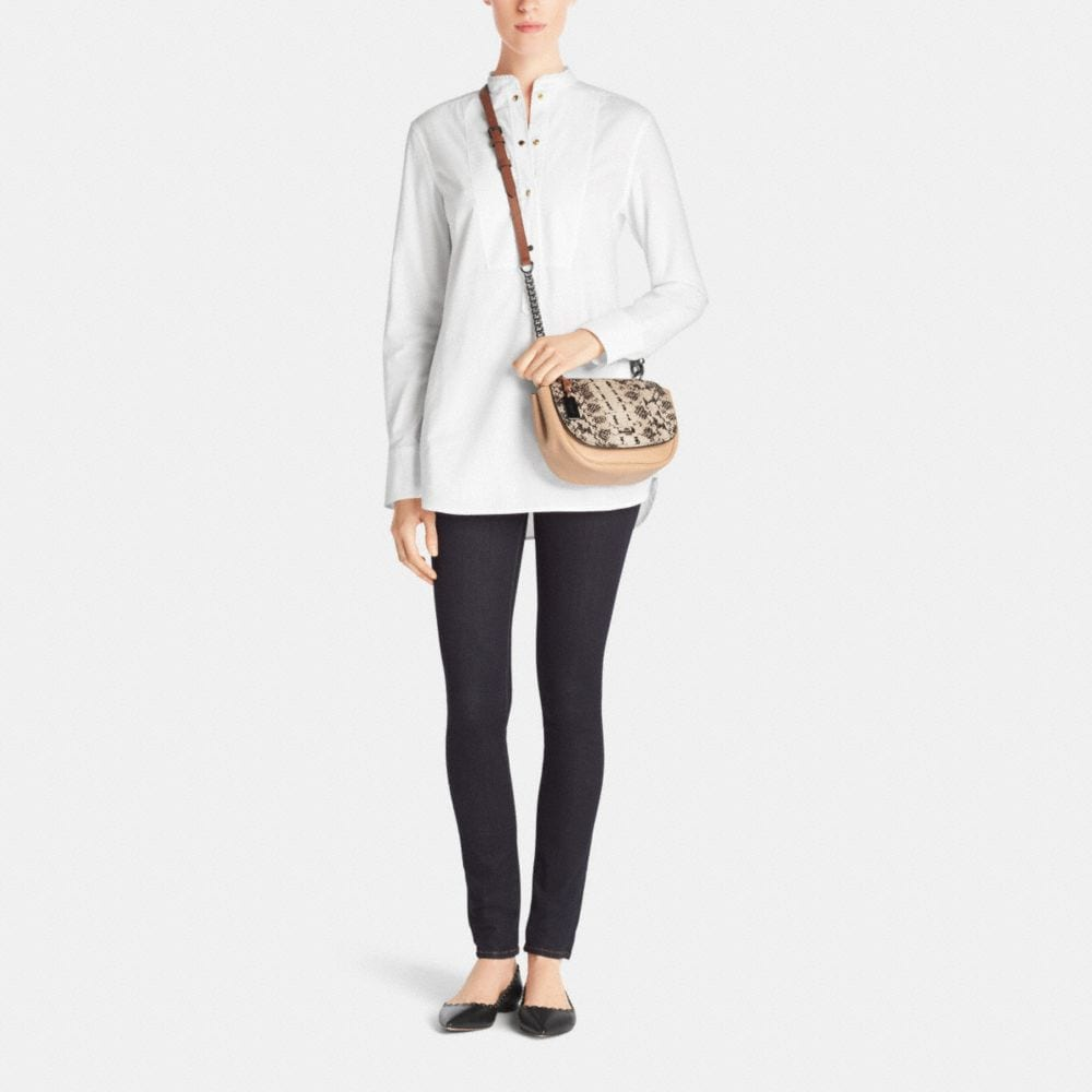 Coach Nomad Top Handle Crossbody in Colorblock Exotic Embossed Glovetanned Leather - Alternate View M1
