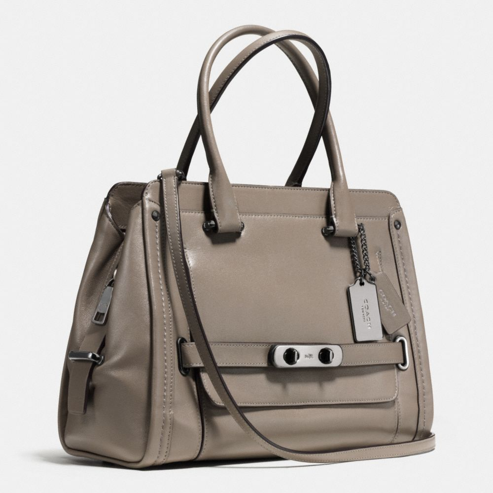 Coach Swagger Frame Satchel in Calf Leather - Alternate View A2