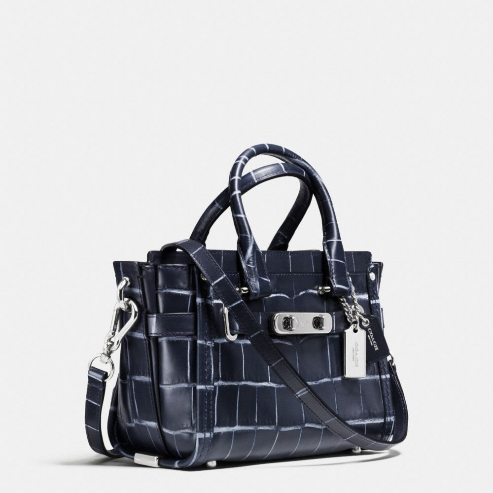 Coach Swagger 20 in Croc Embossed Denim Leather - Alternate View A2