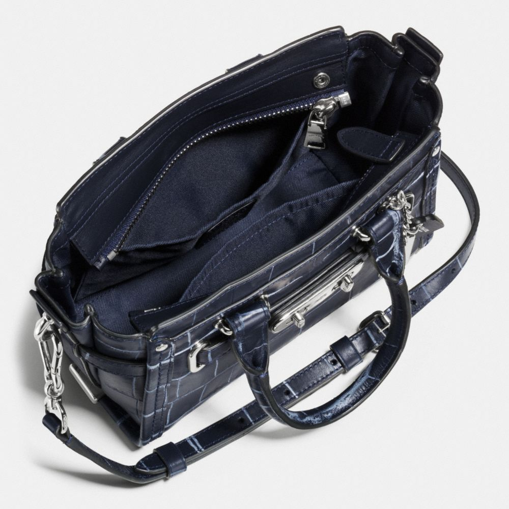 Coach Swagger 20 in Croc Embossed Denim Leather - Alternate View A3