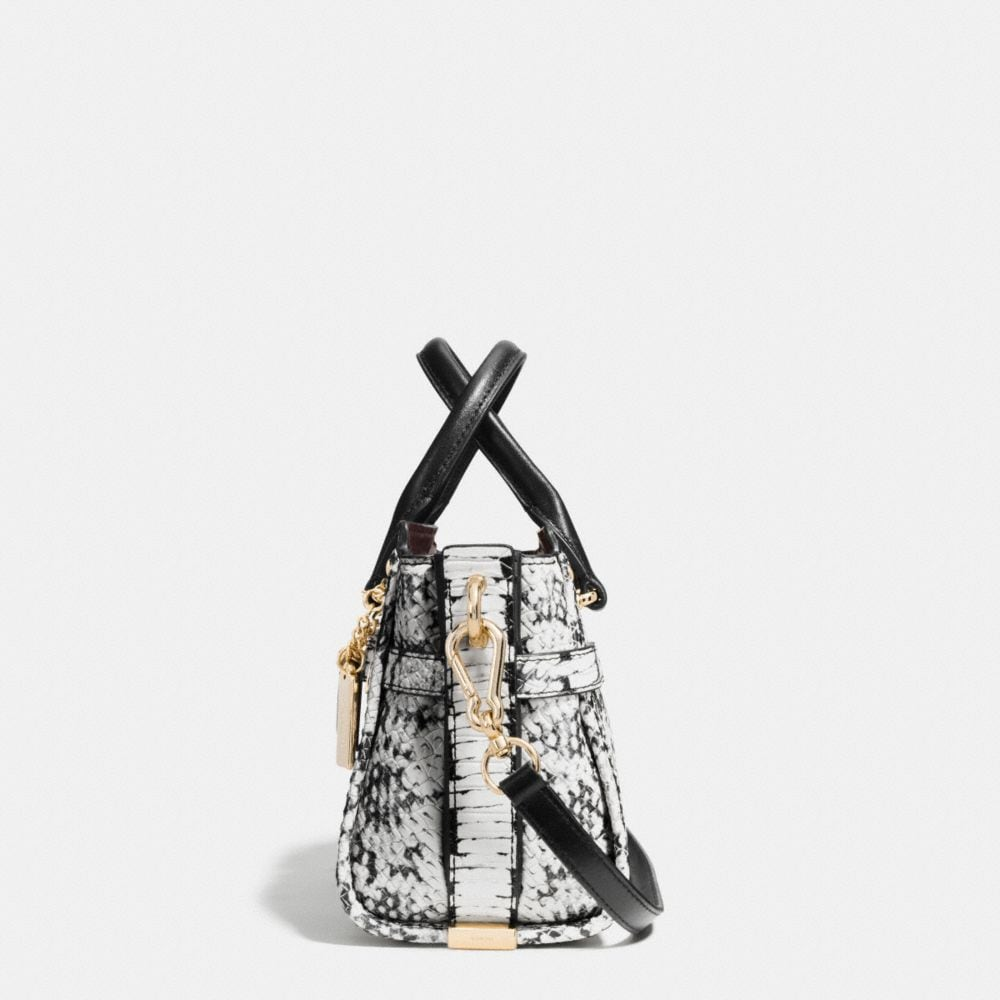 COACH SWAGGER 20 IN COLORBLOCK EXOTIC EMBOSSED LEATHER - Autres affichages A1