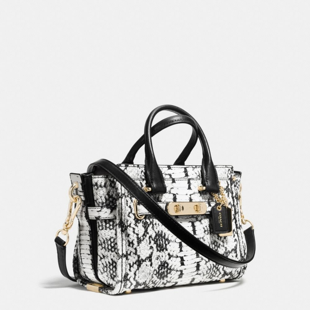 Coach Swagger 20 in Colorblock Exotic Embossed Leather - Alternate View A2
