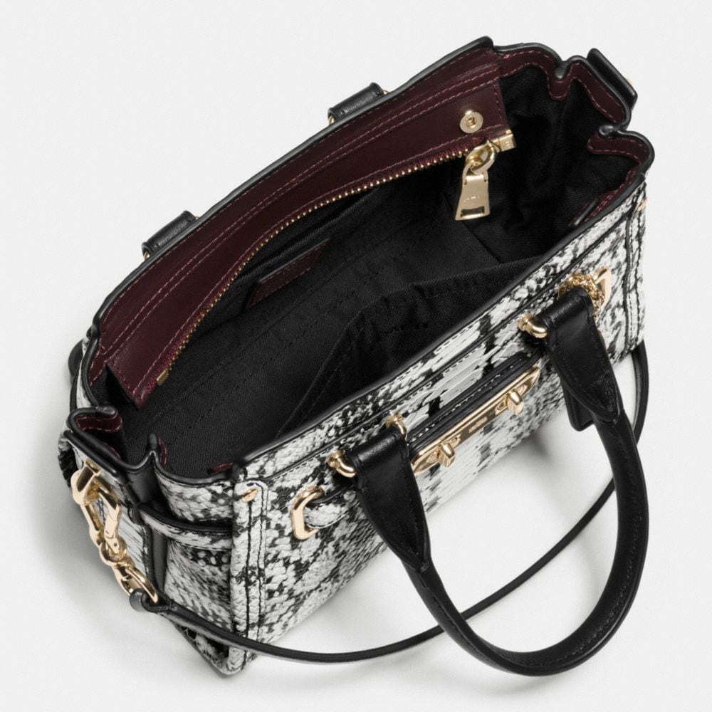 COACH SWAGGER 20 IN COLORBLOCK EXOTIC EMBOSSED LEATHER - Autres affichages A3