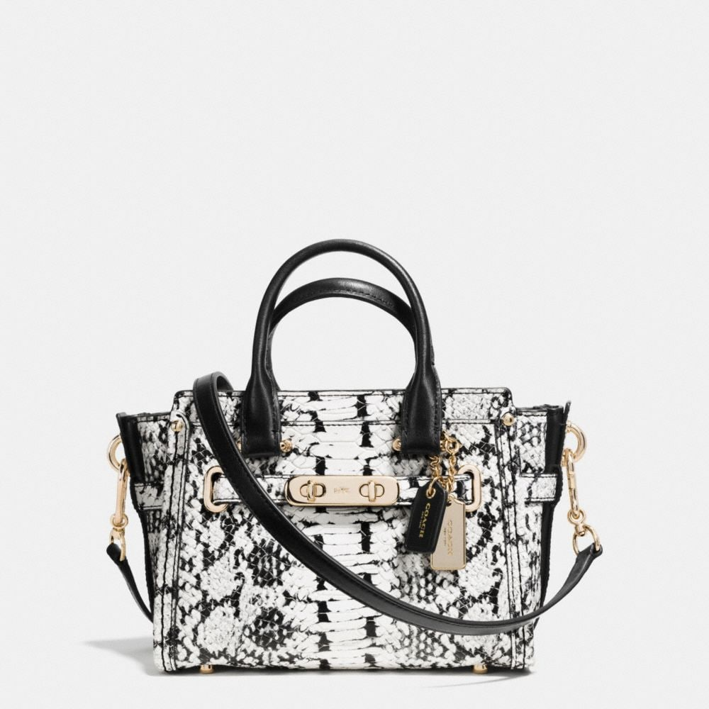 COACH SWAGGER 20 IN COLORBLOCK EXOTIC EMBOSSED LEATHER