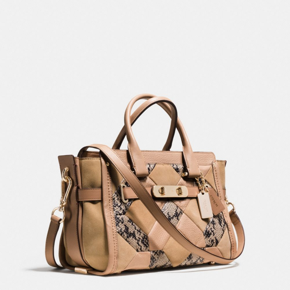 Coach Swagger 27 in Patchwork Exotic Embossed Leather - Autres affichages A2