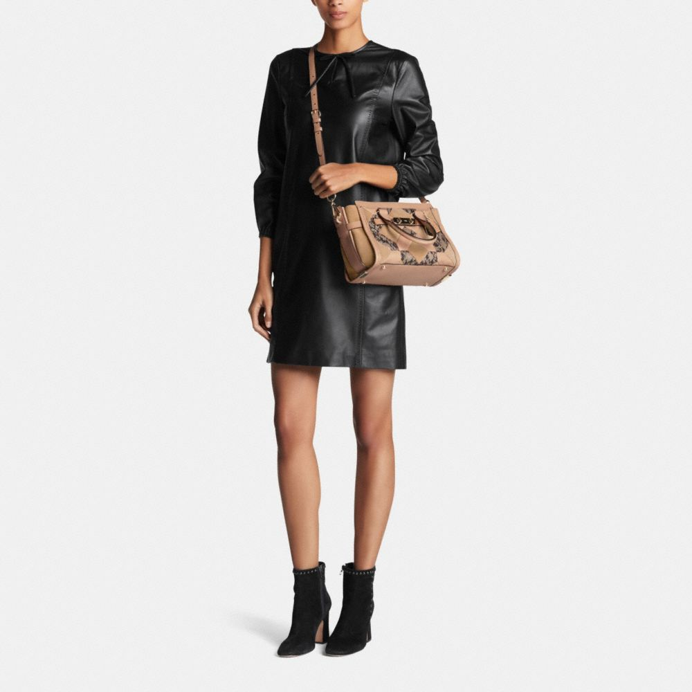 Coach Swagger 27 in Patchwork Exotic Embossed Leather - Alternate View M