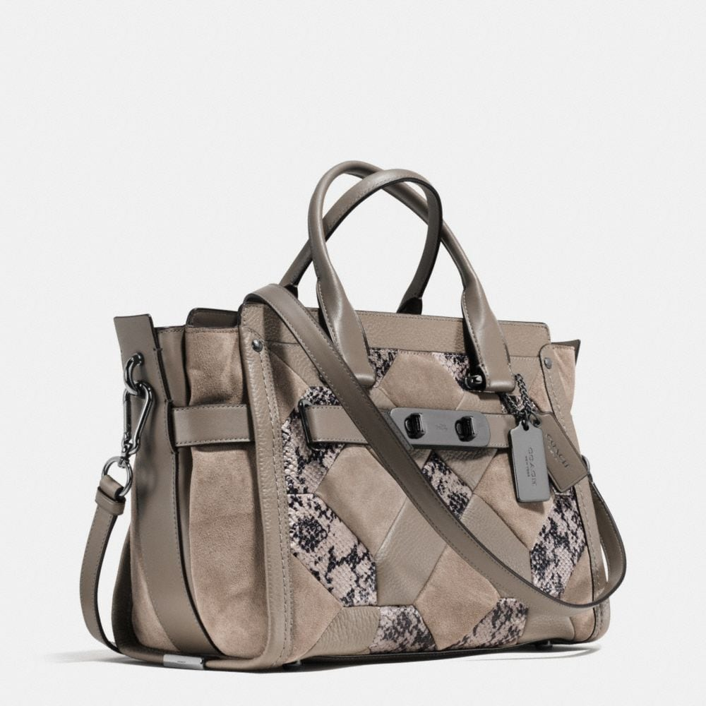 Coach Swagger in Patchwork Exotic Embossed Leather - Alternate View A2