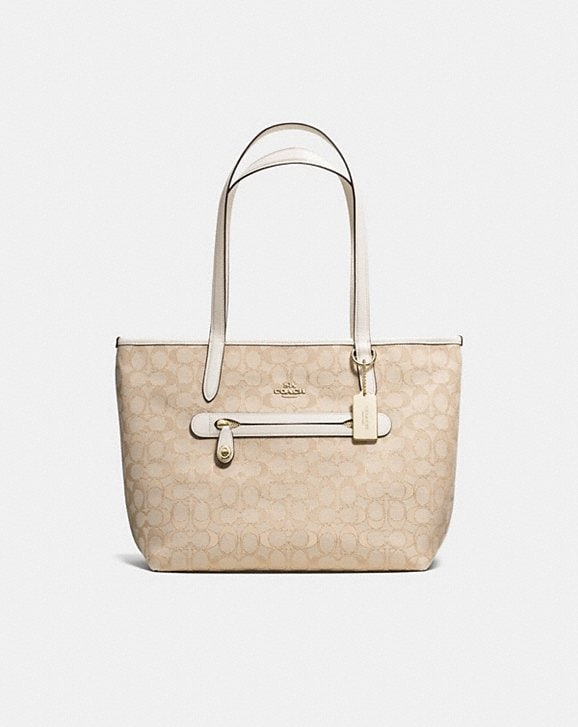 6a78a582d299 COACH  Taylor Tote in Signature Jacquard