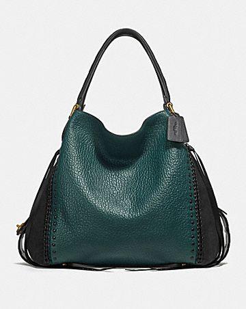 4ae782edea Style Strategy Olivia Hobo Bag Denim Source · Edie Shoulder Bags COACH