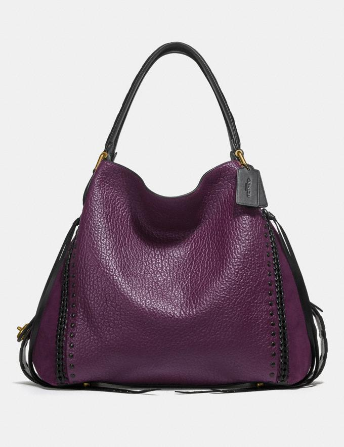 Coach Sac éPaule Edie 42 Prune/Laiton Femme collection Edie