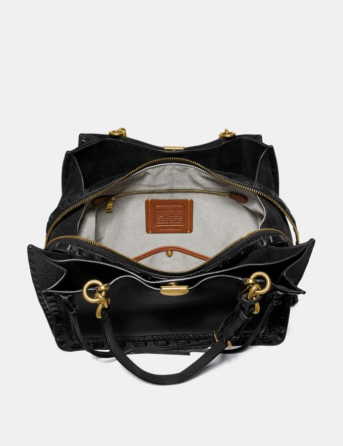Coach Dreamer Tote 34 With Whipstitch Black/Brass Customization Personalize It Monogram for Her Alternate View 2