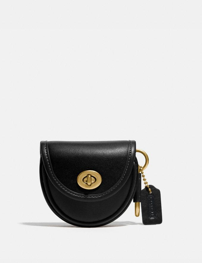 Coach Saddle Bag Charm Brass/Black Women Accessories