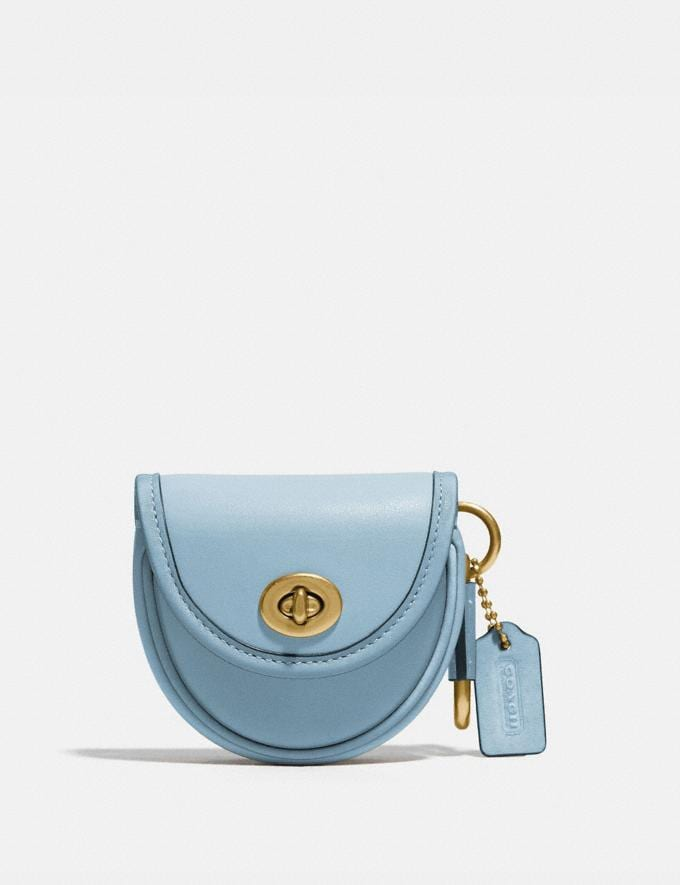 Coach Saddle Bag Charm B4/Waterfall New Women's New Arrivals Accessories