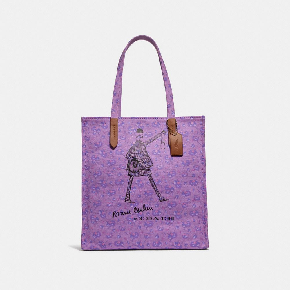 bonnie cashin walking tote in printed canvas