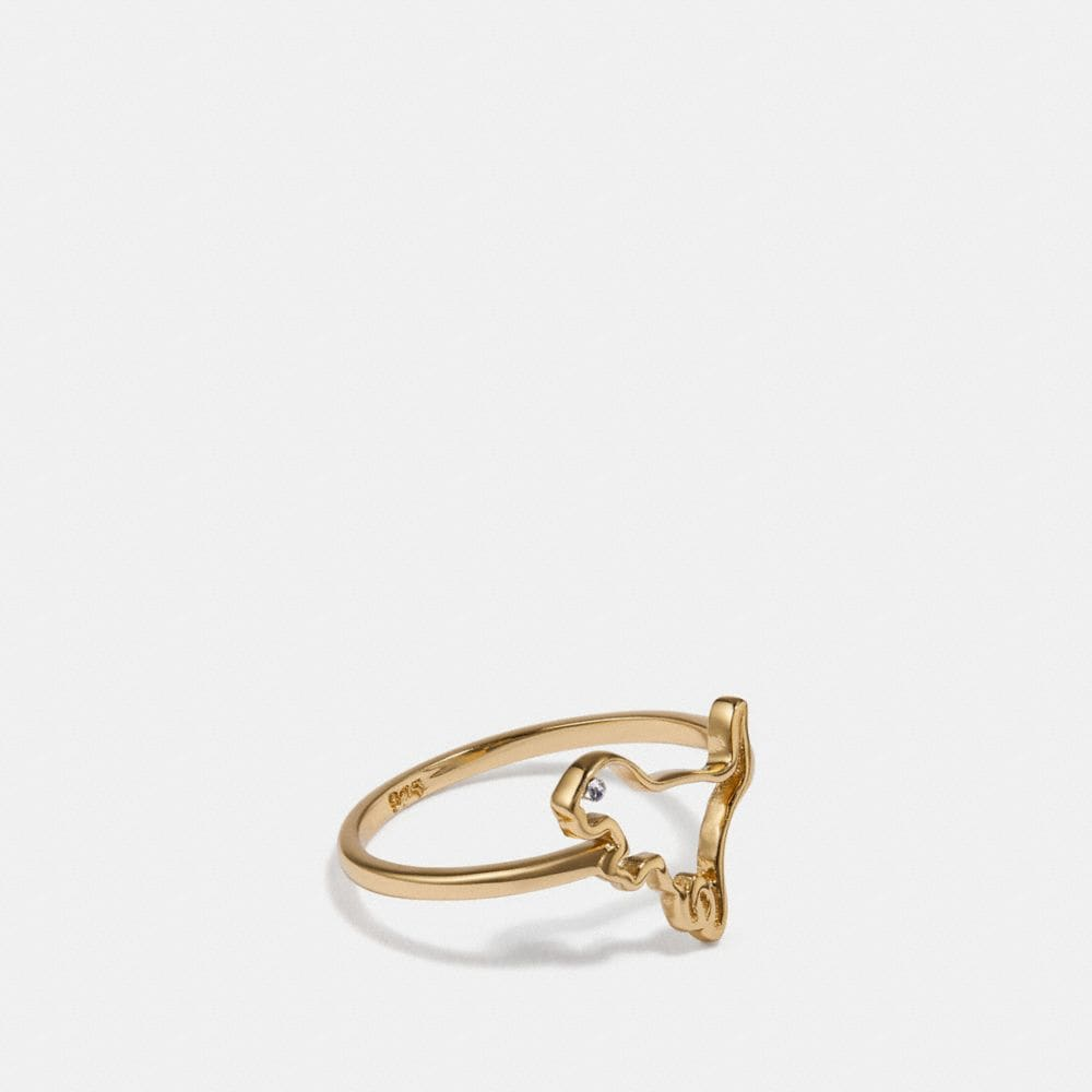 Coach Demi-Fine Cutout Rexy Ring