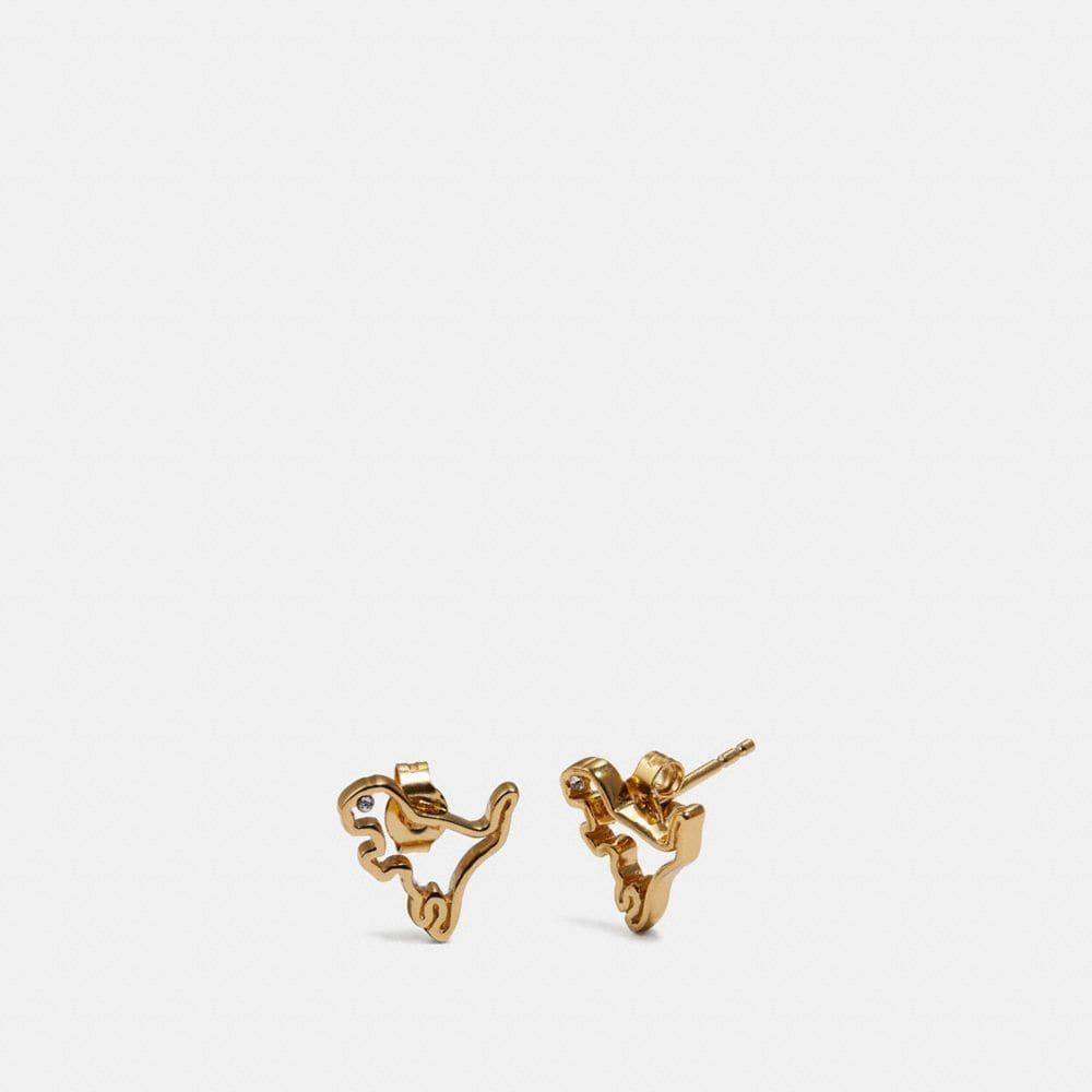 Coach Demi-Fine Cutout Rexy Earrings