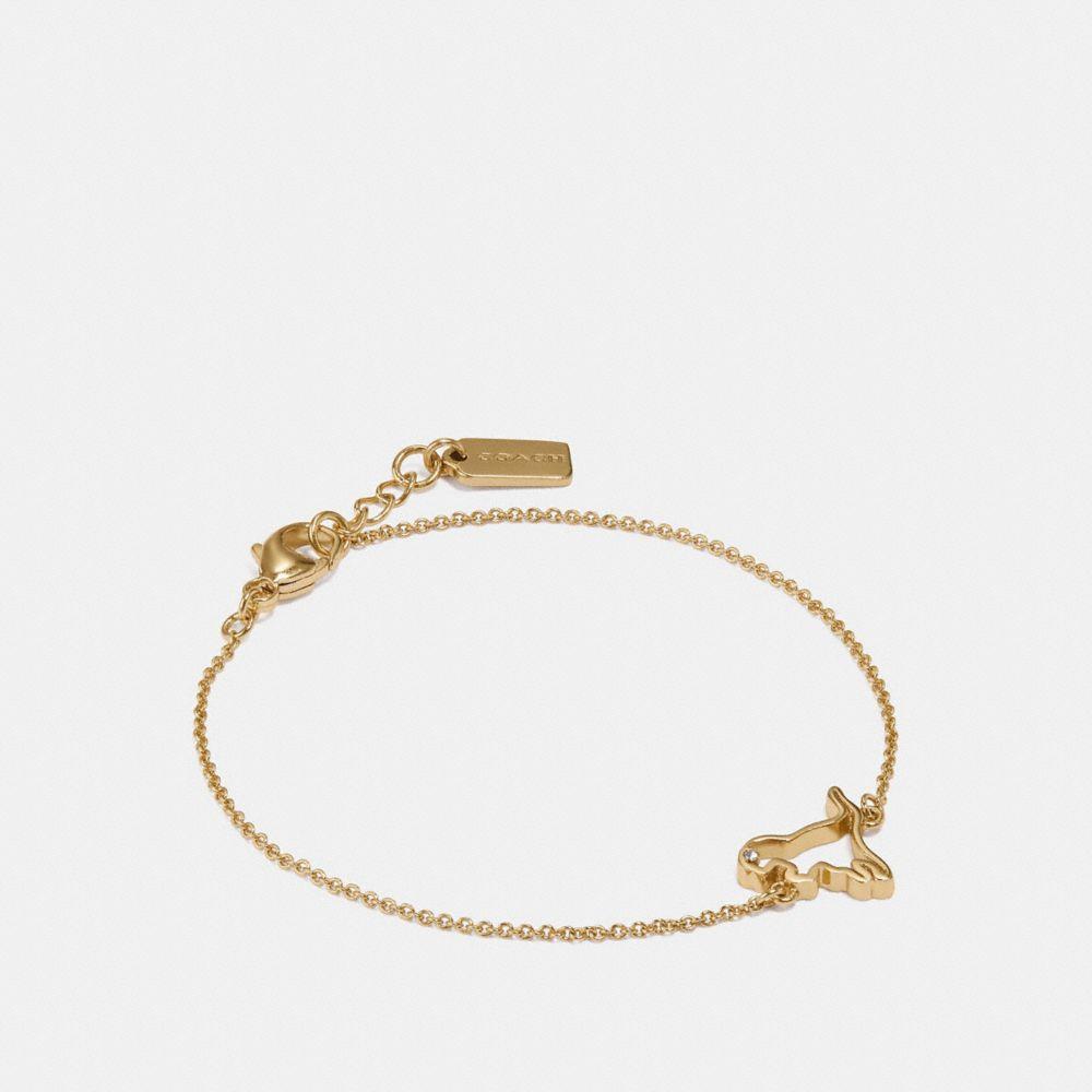 Coach Demi-Fine Cutout Rexy Bracelet