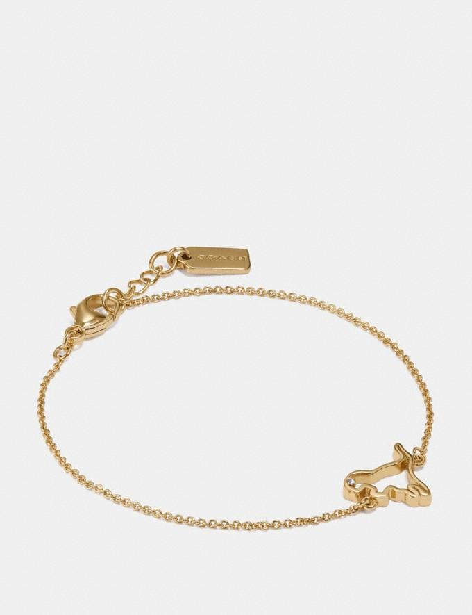 Coach Demi-Fine Cutout Rexy Bracelet Gold Women Accessories Jewelry Bracelets