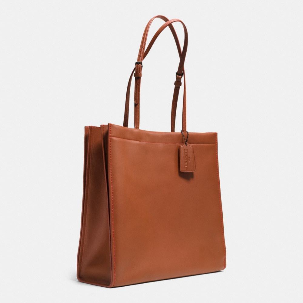 Skinny Tote in Glovetanned Leather - Alternate View A2
