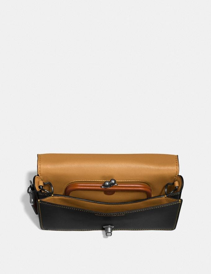 Coach Dinky Black Copper/Marigold/Chalk Customization For Her The Monogram Shop Alternate View 2