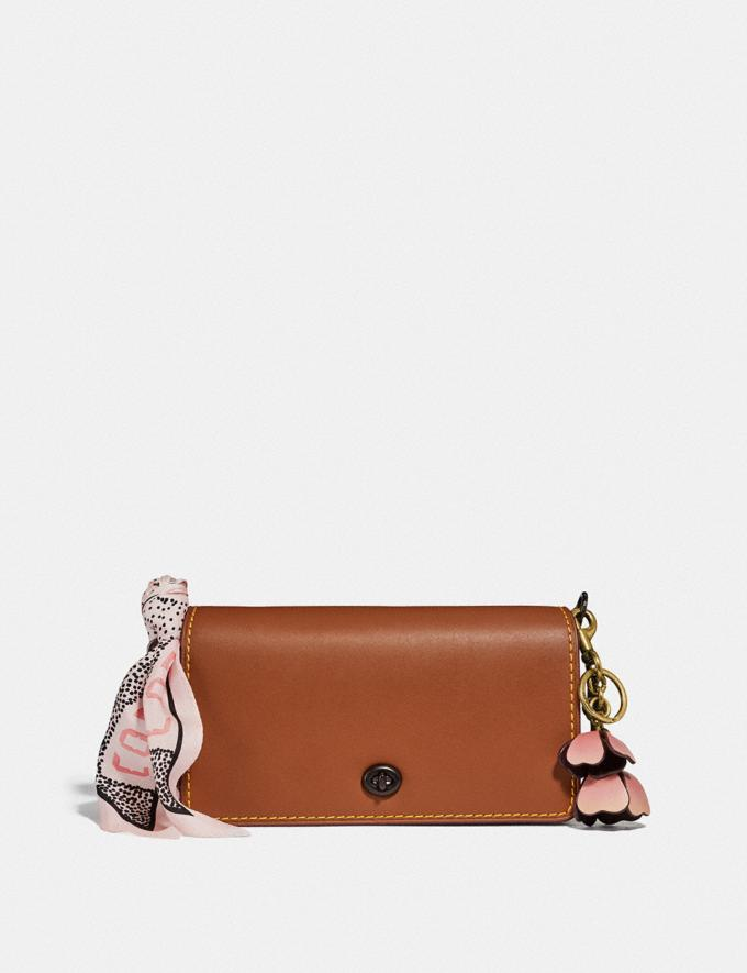 Coach Dinky 1941 Saddle/Wine/Black Copper Customization Personalize It Monogram for Her Alternate View 3