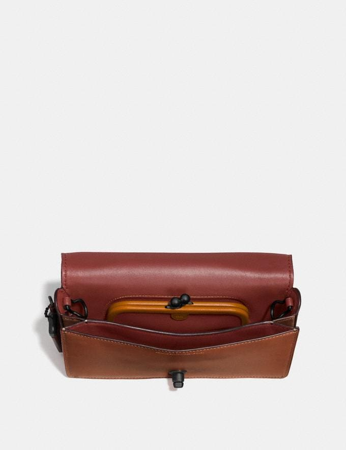 Coach Dinky 1941 Saddle/Wine/Black Copper Customization Personalize It Monogram for Her Alternate View 2