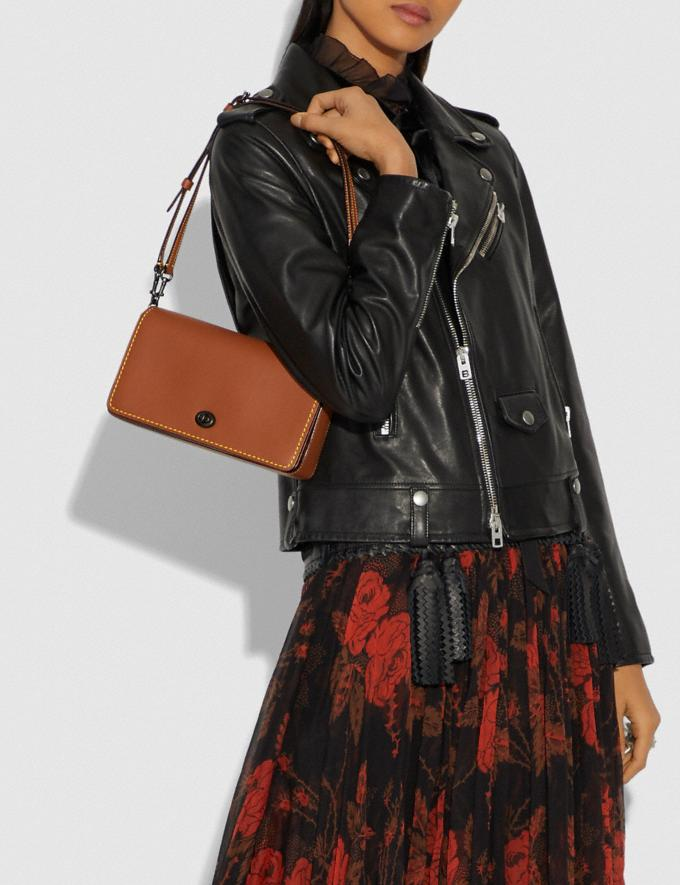 Coach Dinky 1941 Saddle/Wine/Black Copper Customization Personalize It Monogram for Her Alternate View 5