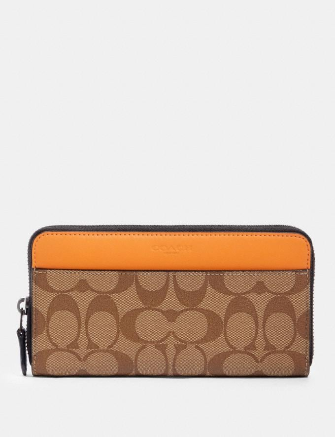 Coach Colorblock Signature Canvas Accordion Wallet