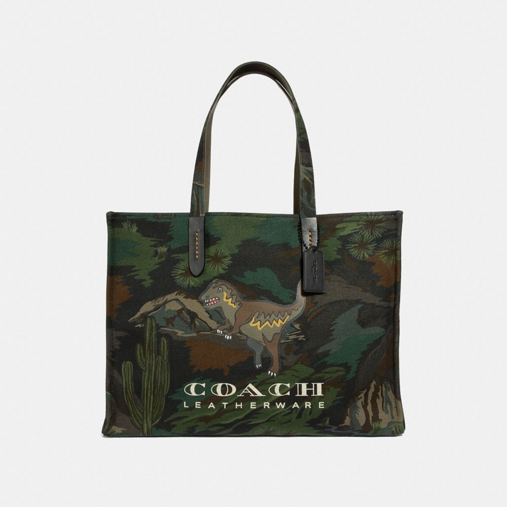 Coach Tote 42 With Landscape Print