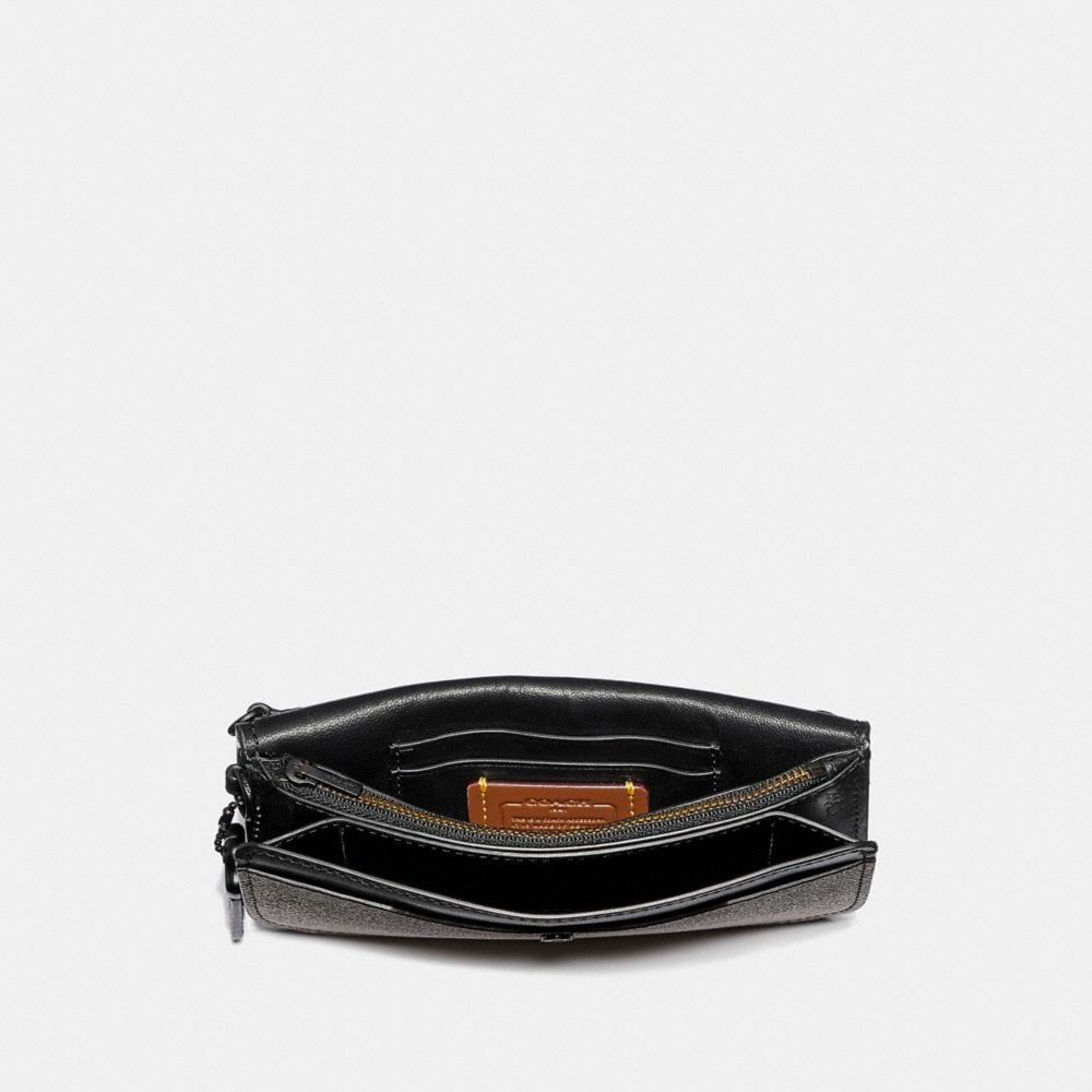 Coach Clutch in Colorblock Signature Canvas Alternate View 1