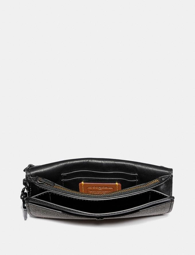 Coach Clutch in Colorblock Signature Canvas Tan Black/Black Copper Women Small Leather Goods Wristlets Alternate View 1