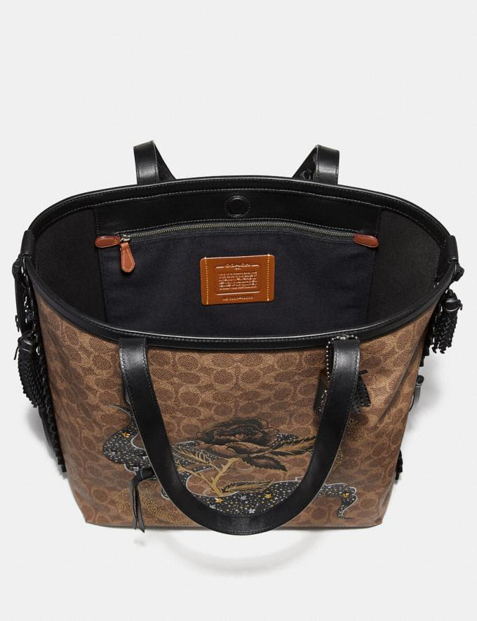 Coach Tote 34 in Signature Canvas With Tattoo Tan Black/Black Copper New Featured Online-Only Alternate View 2