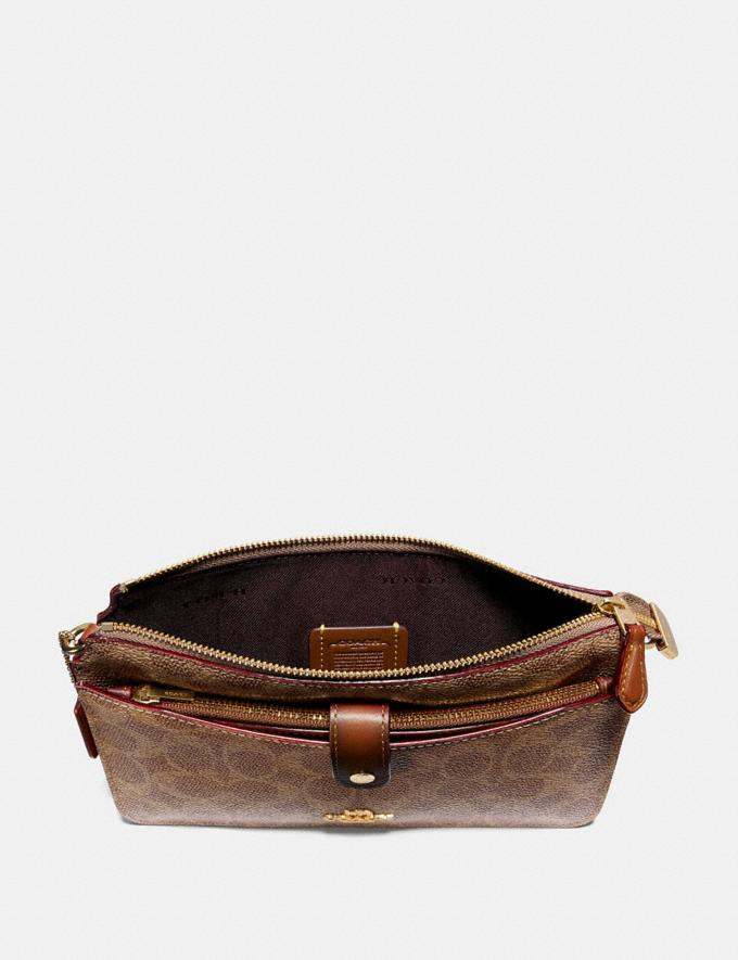 Coach Noa Pop-Up Messenger in Colorblock Signature Canvas Tan/Rust/Brass Women Accessories Alternate View 1